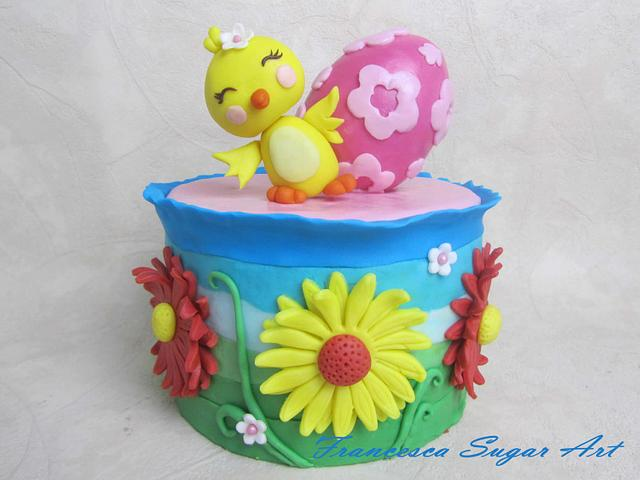 Happy Chick Easter Cake
