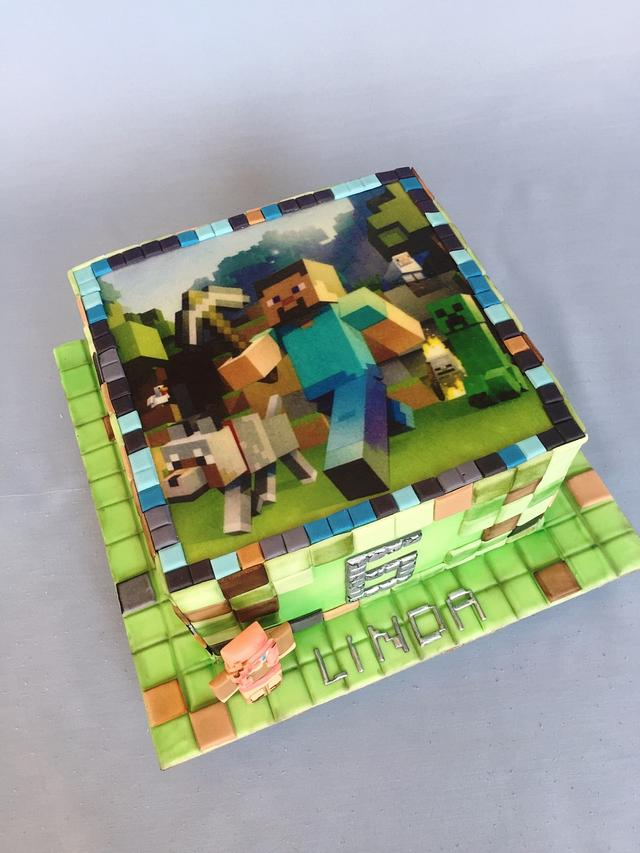 Minecraft with edible image
