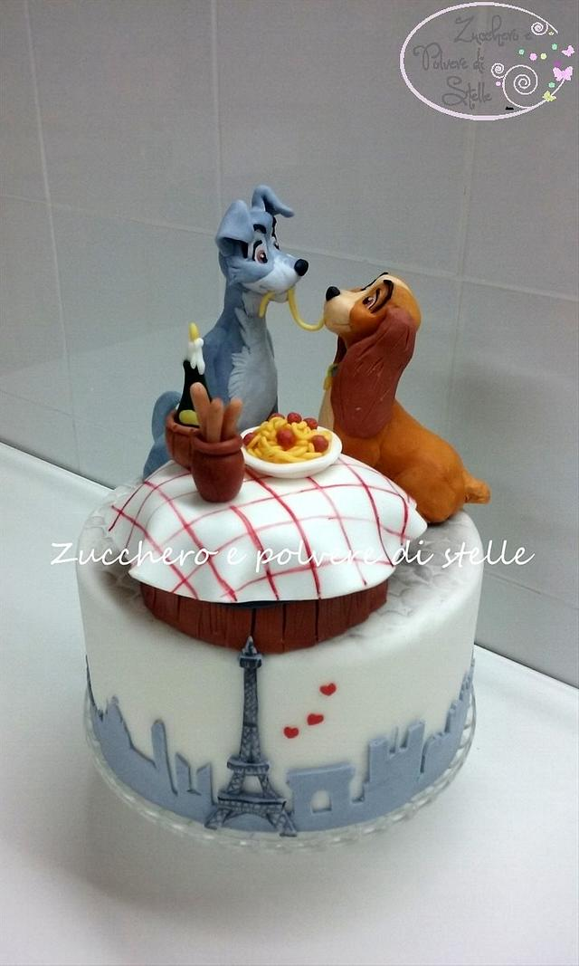 Lady And The Tramp Cake By Zucchero E Polvere Di Stelle Cakesdecor