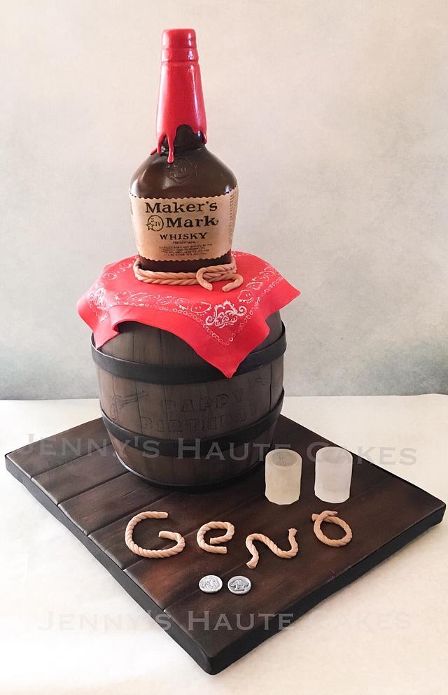 Maker's Mark Bourbon cake