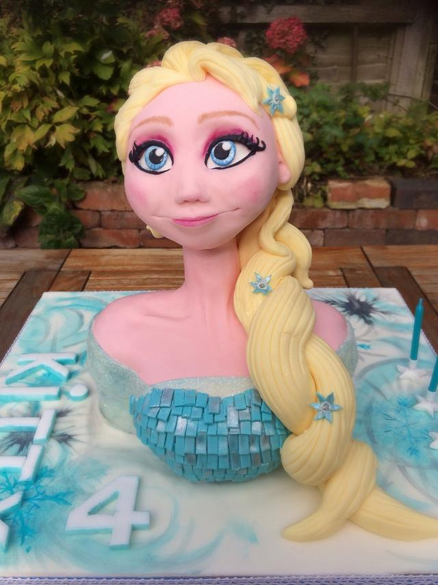 Elsa head and shoulders cake
