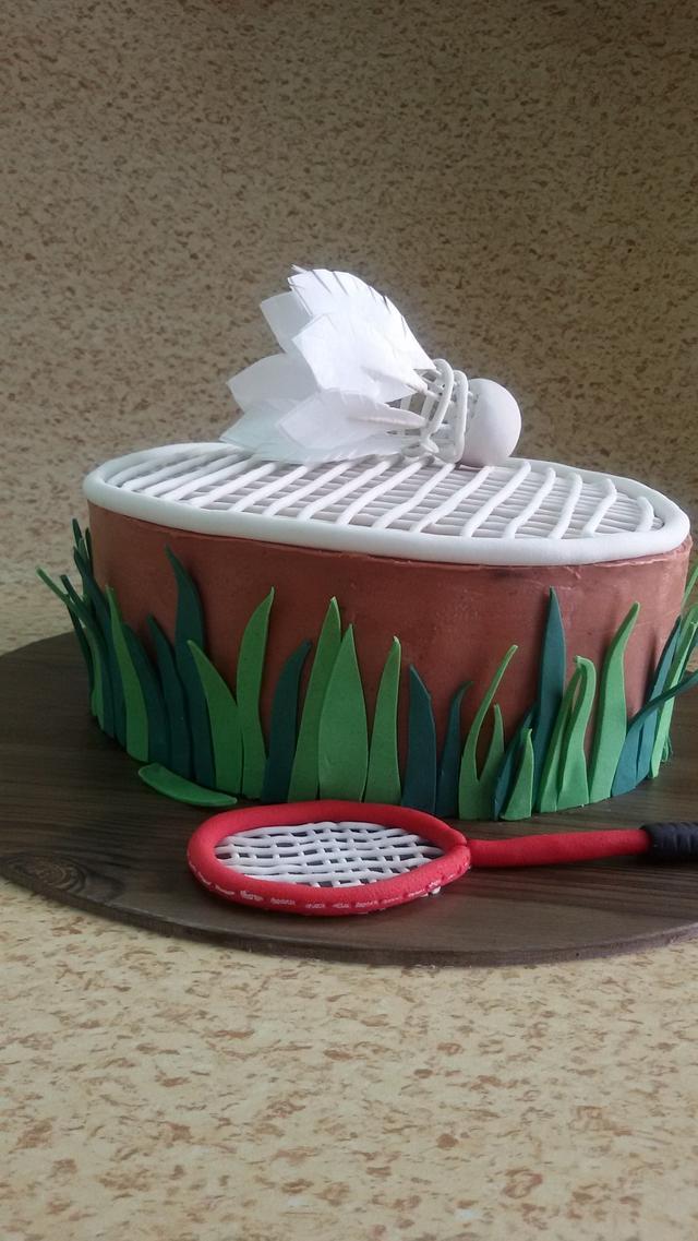 A badminton cake
