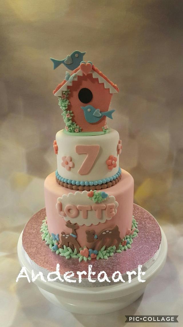 Another bird house cake