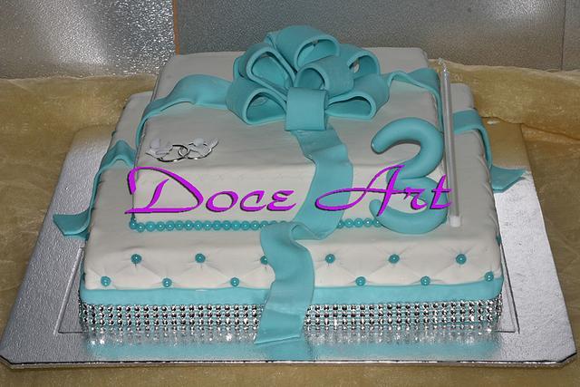 3rd wedding anniversary cake