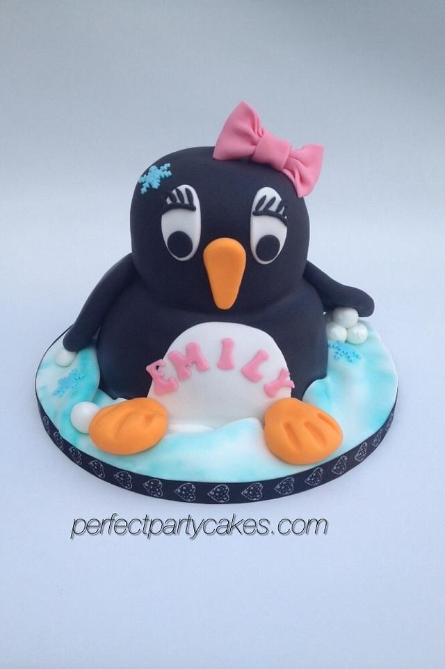 Miraculous Penguin Birthday Cake Cake By Perfect Party Cakes Cakesdecor Funny Birthday Cards Online Aeocydamsfinfo