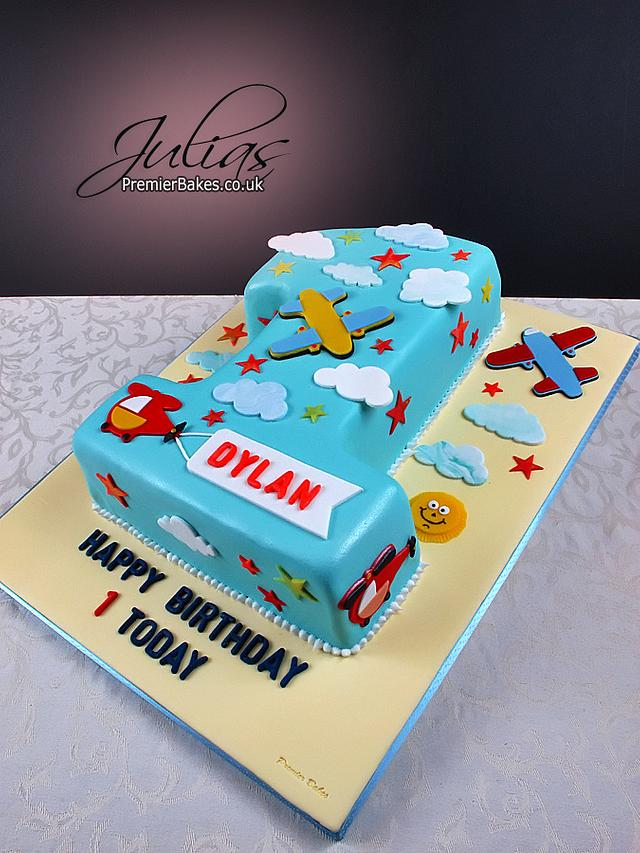Fine Birthday Cake 1 Year Old Cake By Premierbakes Julia Cakesdecor Personalised Birthday Cards Cominlily Jamesorg