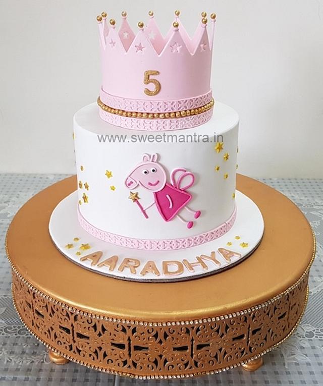 Tremendous Peppa Pig Princess Fairy Theme Designer Fondant Cake For Cakesdecor Funny Birthday Cards Online Bapapcheapnameinfo