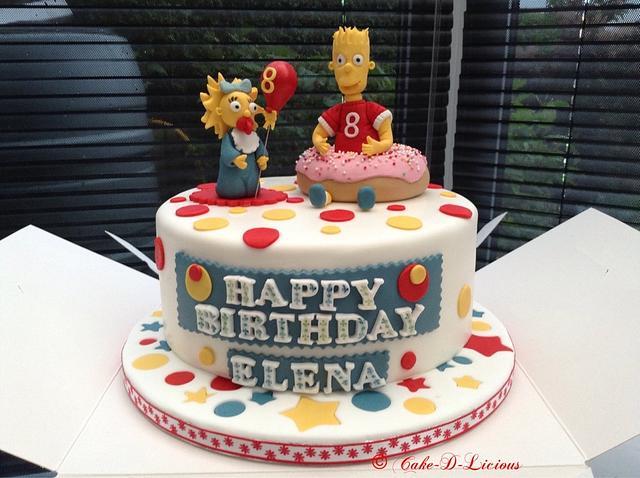 Maggie & Bart Simpson