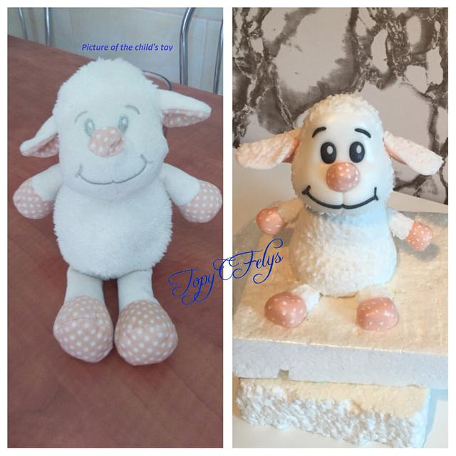 Toy sheep- cake topper