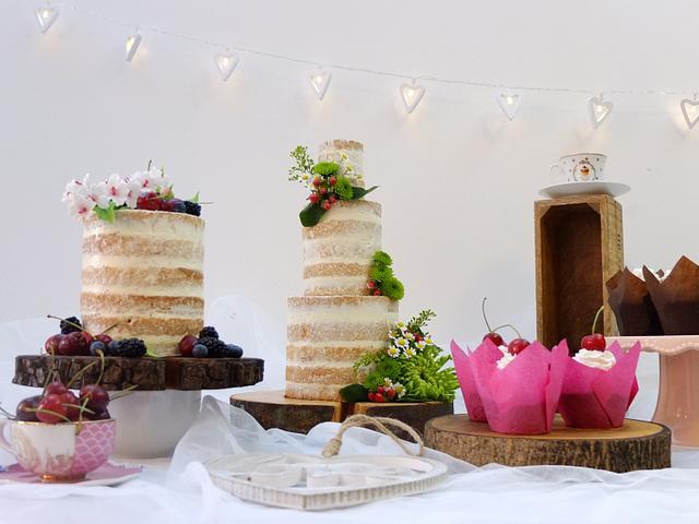 Wedding Cupcake Tower - Naked Cake   Cupcakes in 2019