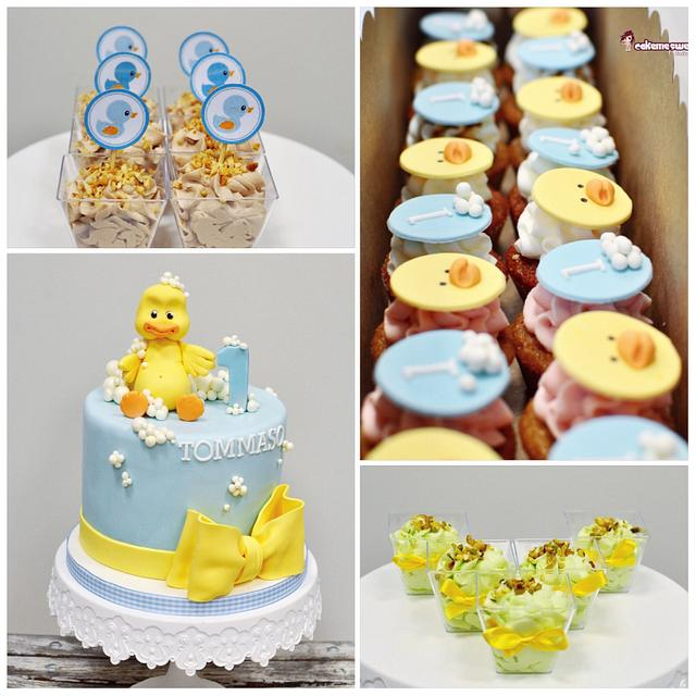 Super Rubber Duck 1St Birthday Cake By Naike Lanza Cakesdecor Funny Birthday Cards Online Inifofree Goldxyz