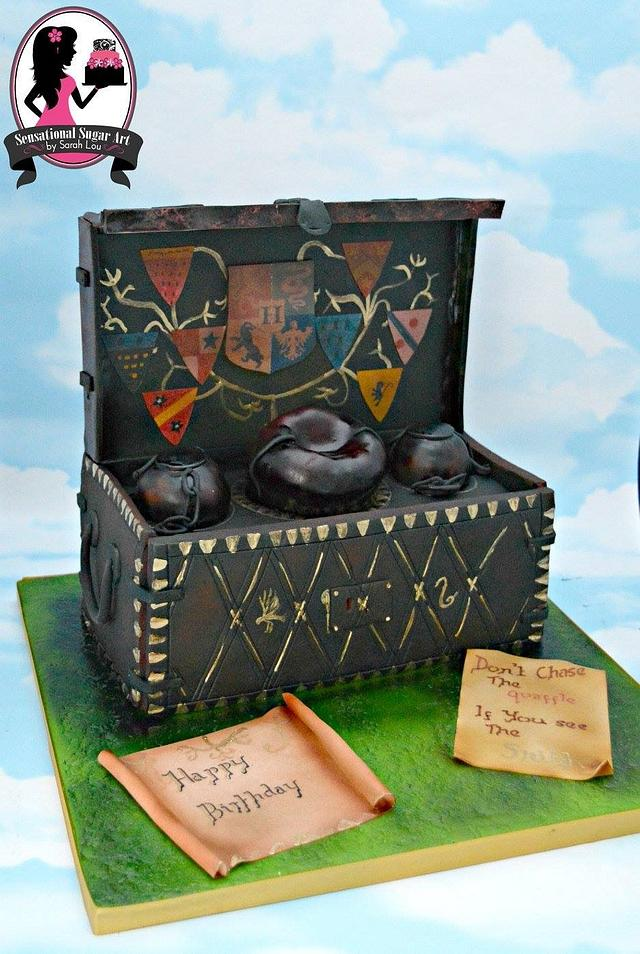 Quidditch themed cake (Harry Potter)