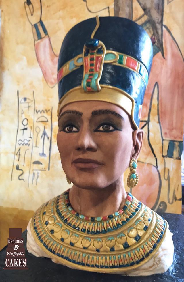 Nefertiti sculpted bust - pharaohs tomb collaboration