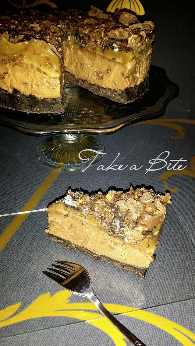Tony's Chocolonely seasalt caramel cheesecake