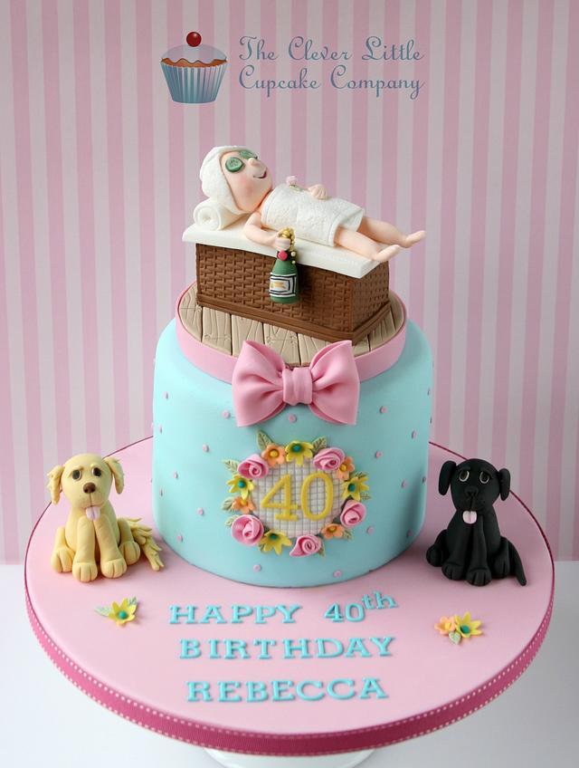 Awe Inspiring Spa Themed 40Th Birthday Cake Cake By Amandas Little Cakesdecor Personalised Birthday Cards Xaembasilily Jamesorg