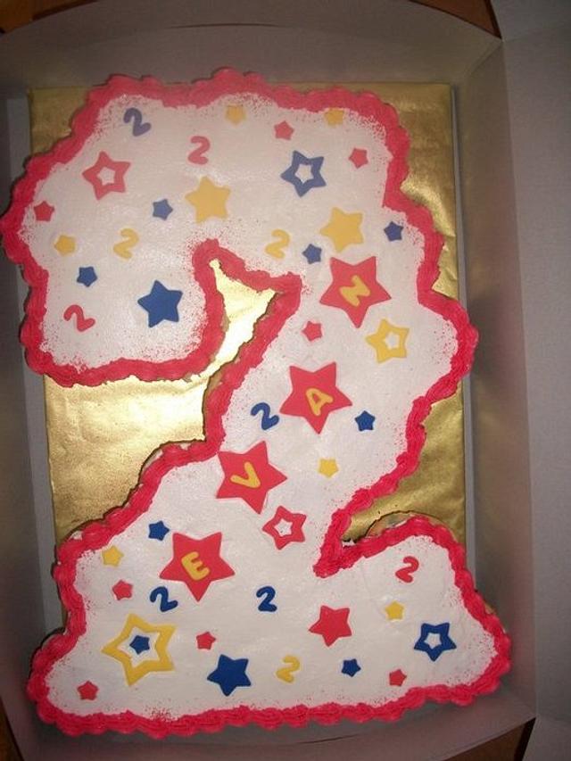 2nd Birthday Cupcake Cake