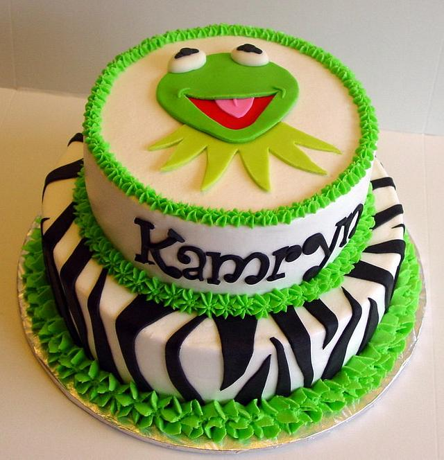 Pleasing Kermit Gone Wild Cake By Stephanie Dill Cakesdecor Funny Birthday Cards Online Sheoxdamsfinfo
