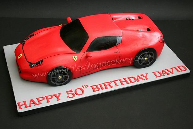 Tremendous Ferrari 458 Spider Birthday Cake Cake By The Little Cakesdecor Funny Birthday Cards Online Aboleapandamsfinfo