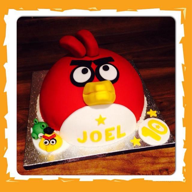 Terrific Angry Birds Birthday Cake Cake By Cakesbymrsmacca Cakesdecor Funny Birthday Cards Online Sheoxdamsfinfo