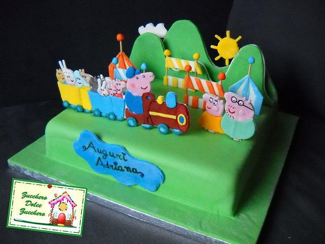 Torta Peppa Pig e la grande festa
