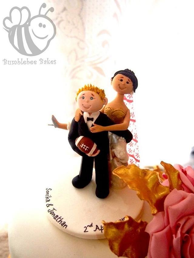 Happy Bride & Groom Topper