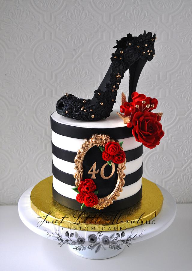 Incredible 40Th Birthday Cake Cake By Stephanie Cakesdecor Funny Birthday Cards Online Elaedamsfinfo