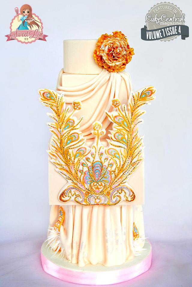 Guo Pei Dress Cake - Cake Central Magazine Fashion Issue