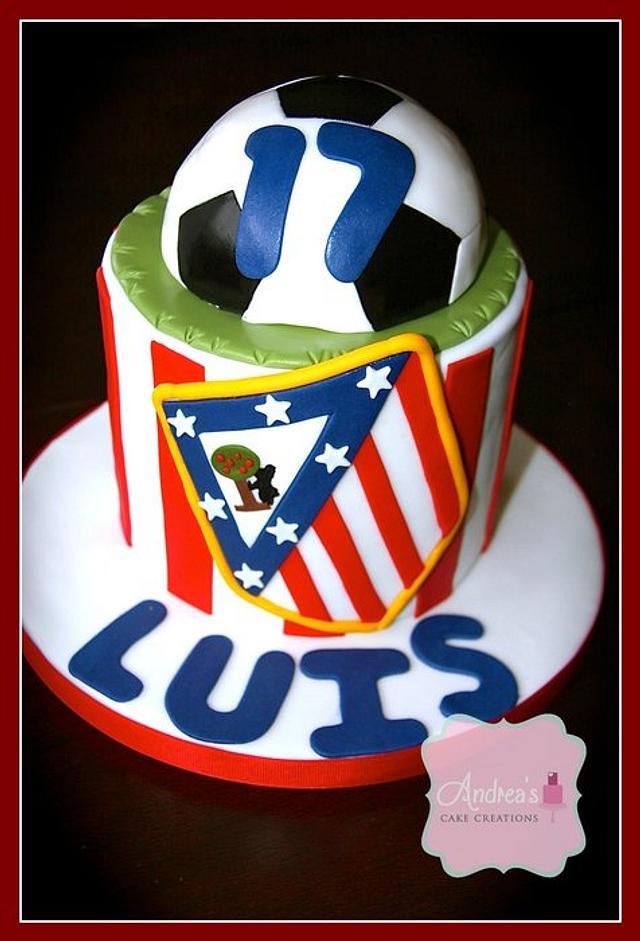 Athletico Madrid Cake