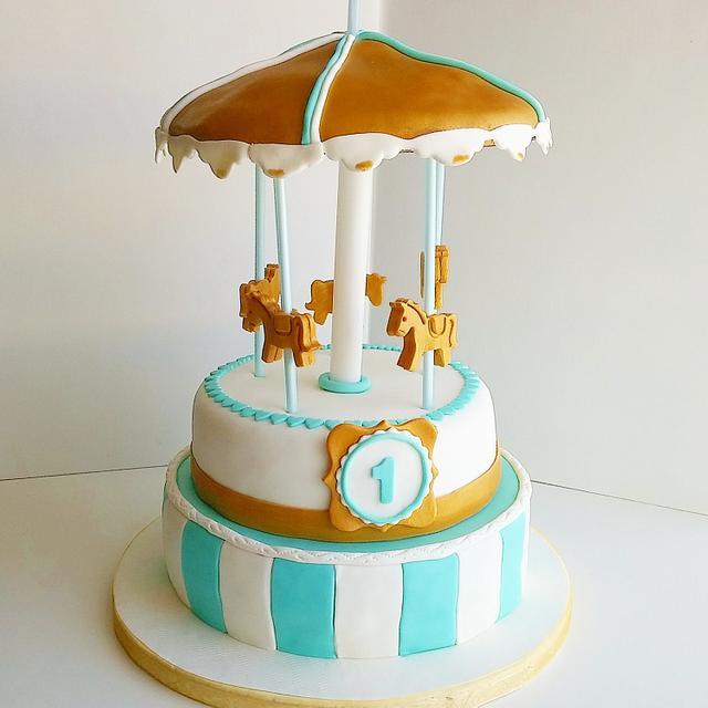 kikos carousel...a sweet baby cake