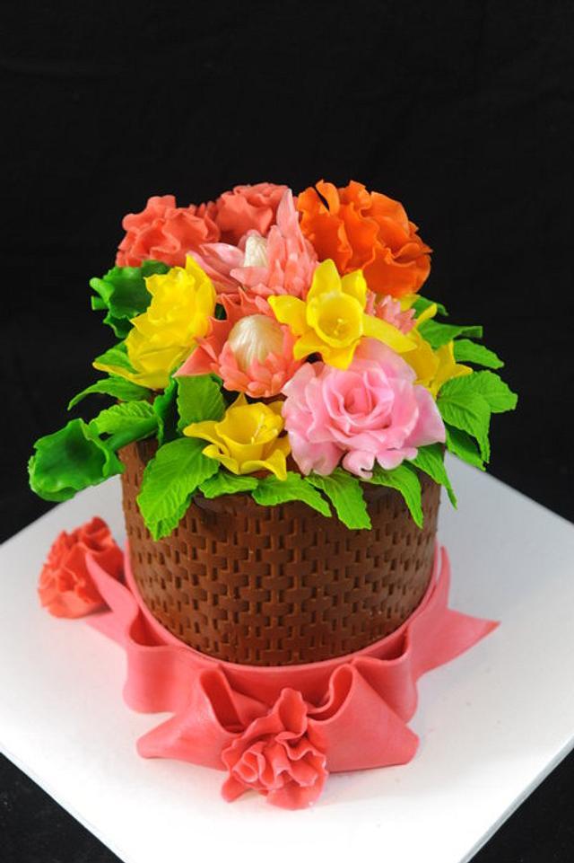 Little Flower Basket Cake