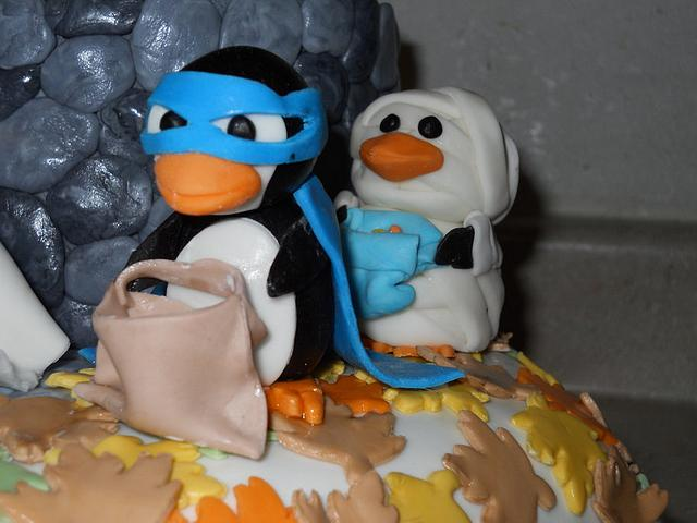 Penguins go Trick or Treating
