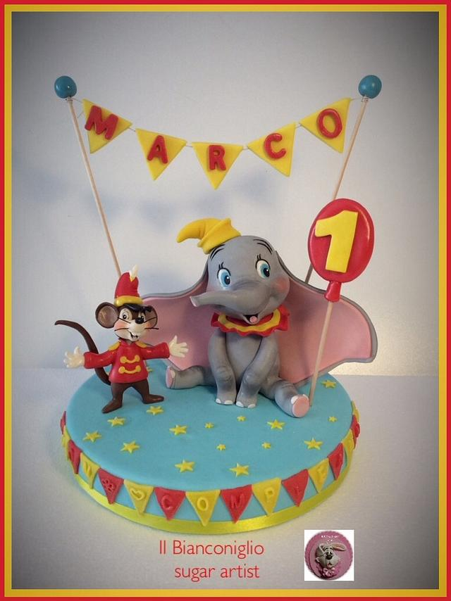 Sensational Dumbo To Celebrate The First Birthday Cake By Carla Cakesdecor Birthday Cards Printable Trancafe Filternl