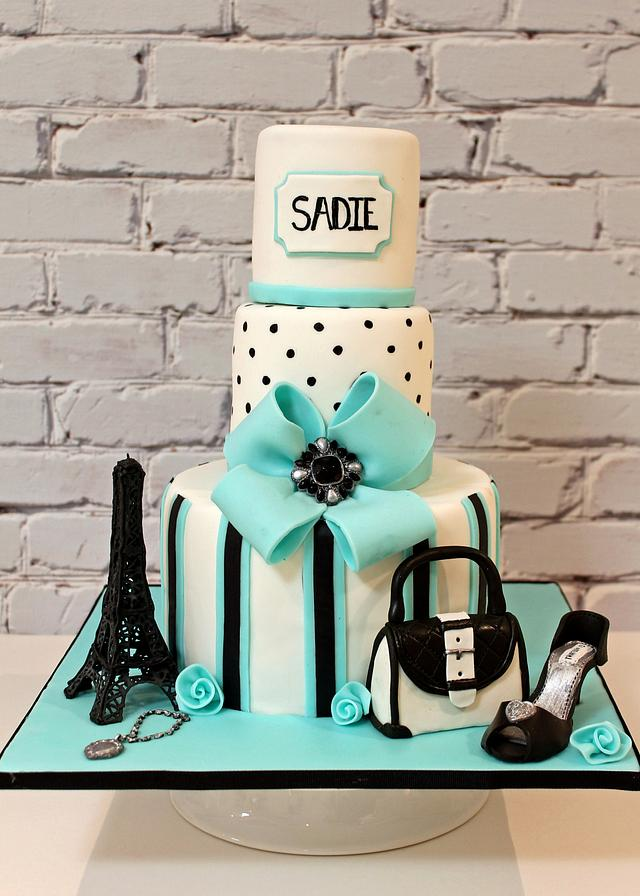 Miraculous Paris Girly Birthday Cake Cake By Pearls And Spice Cakesdecor Funny Birthday Cards Online Alyptdamsfinfo