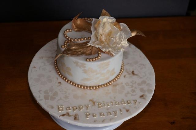 Golden Flower Cake
