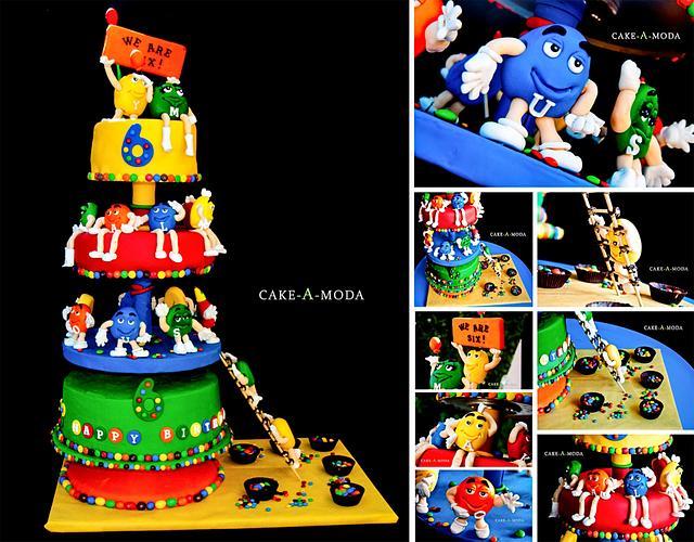 My Twins' Sixth Birthday m&m'S Cake