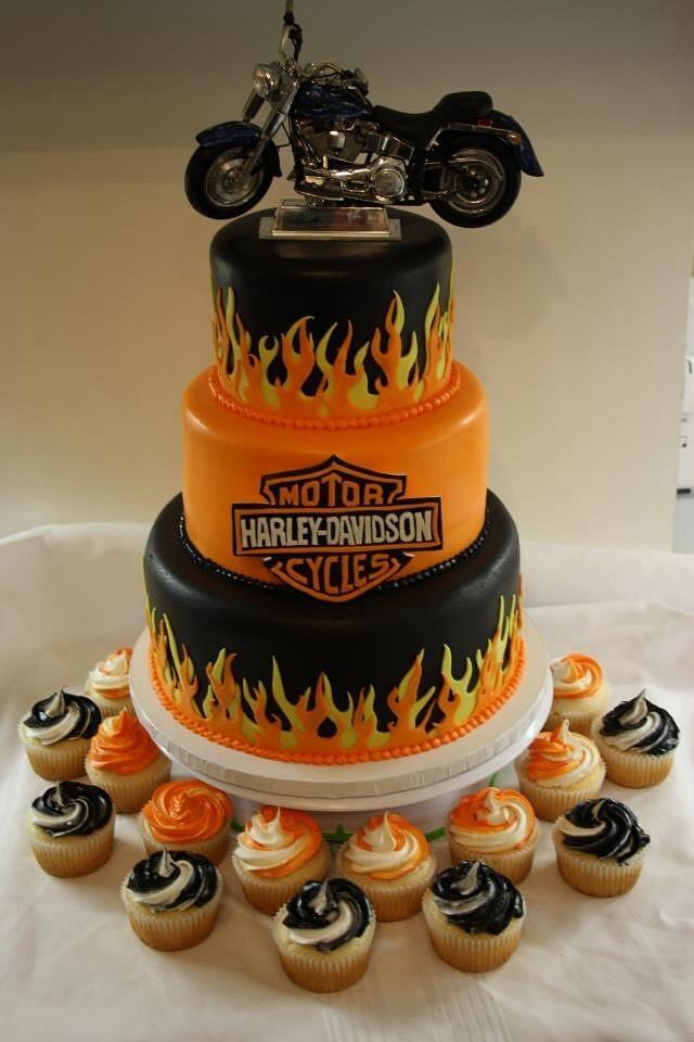 Astonishing Harley Davidson Birthday Cake Cake By Simplysweetcakes1 Cakesdecor Funny Birthday Cards Online Fluifree Goldxyz