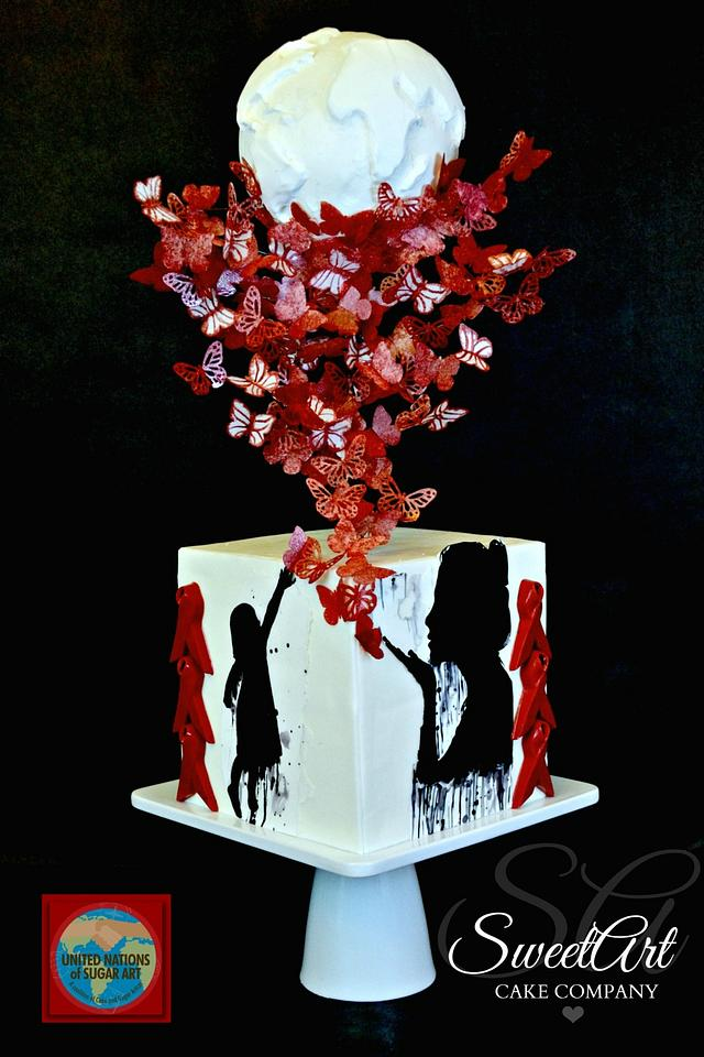 UNSA Be Red Collaboration Cake