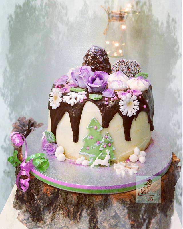 winterdrip cake