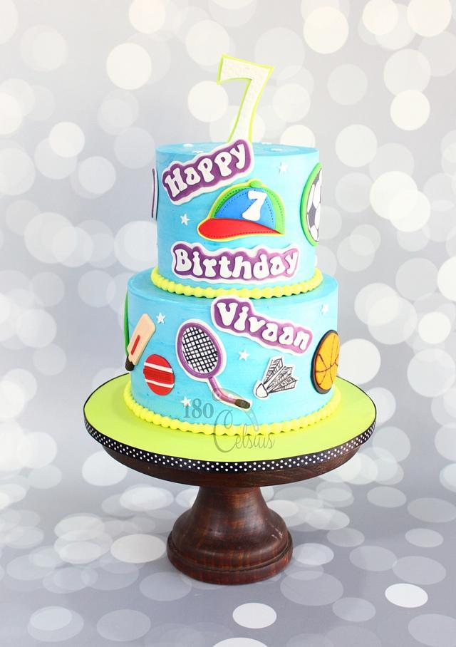 Buttercream Sport theme cake