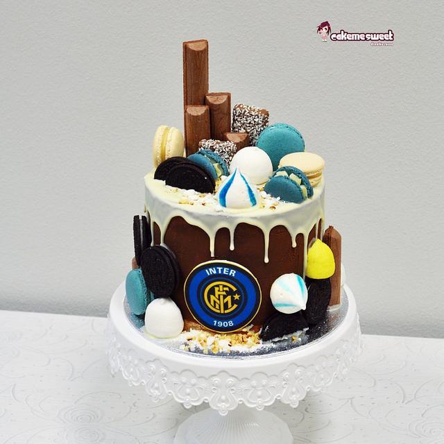 Inter fc DRIP cake