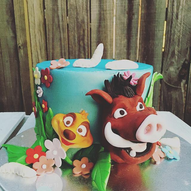 Lion king theme cake