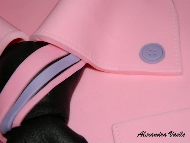 Pink shirt cake