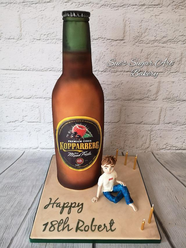 Outstanding Giant Kopparberg 18Th Birthday Cake Cake By Sues Sugar Cakesdecor Funny Birthday Cards Online Elaedamsfinfo