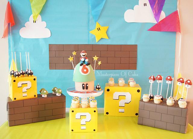 Super Mario Sweet Table