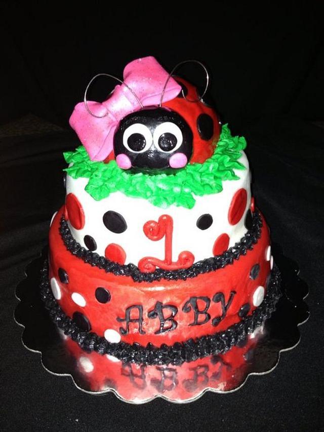 Brilliant Ladybug Birthday Cake Cake By Beth78148 Cakesdecor Personalised Birthday Cards Veneteletsinfo