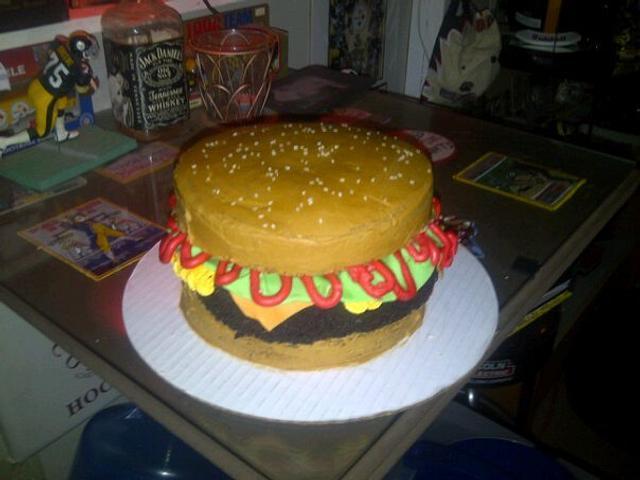 Birthday hamburger