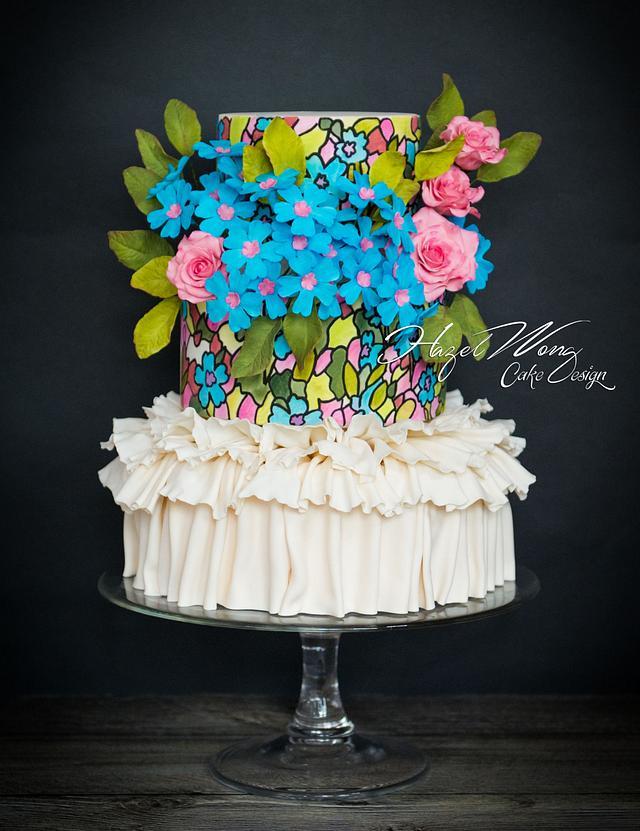 Marchesa spring summer Fashion Inspired Cake Collaboration