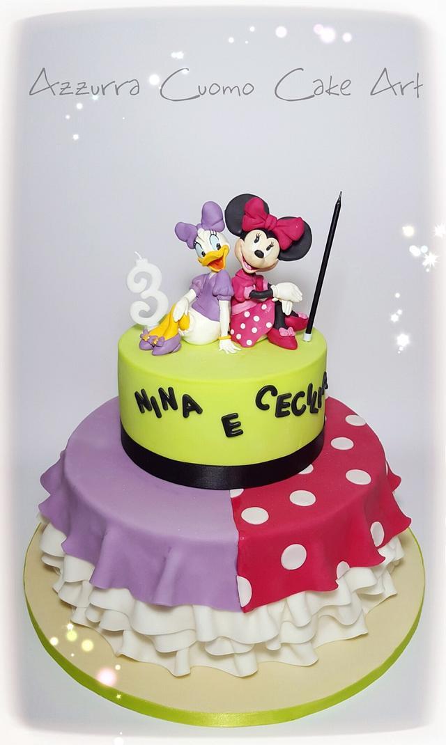 Pleasing Daisy Minnie A Cake For 2 Cake By Azzurra Cuomo Cakesdecor Personalised Birthday Cards Vishlily Jamesorg