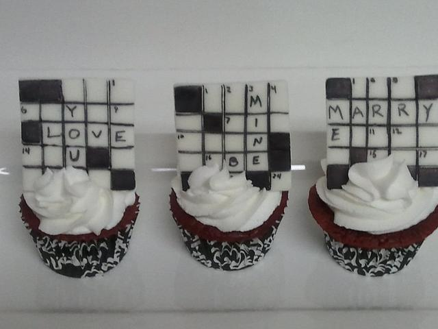 Crossword Puzzle Cupcakes