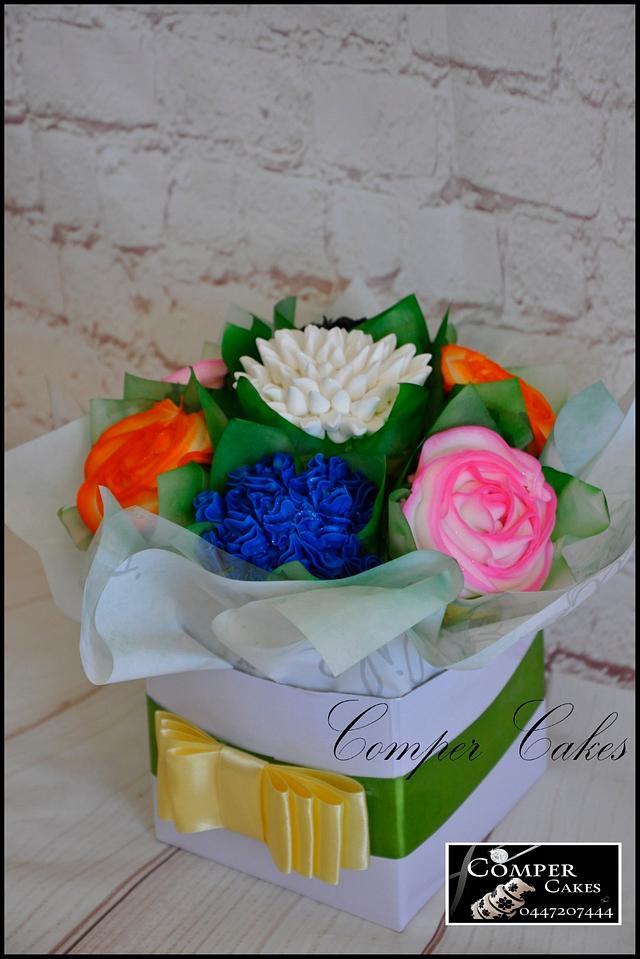 Flower Bouquet Cupcakes